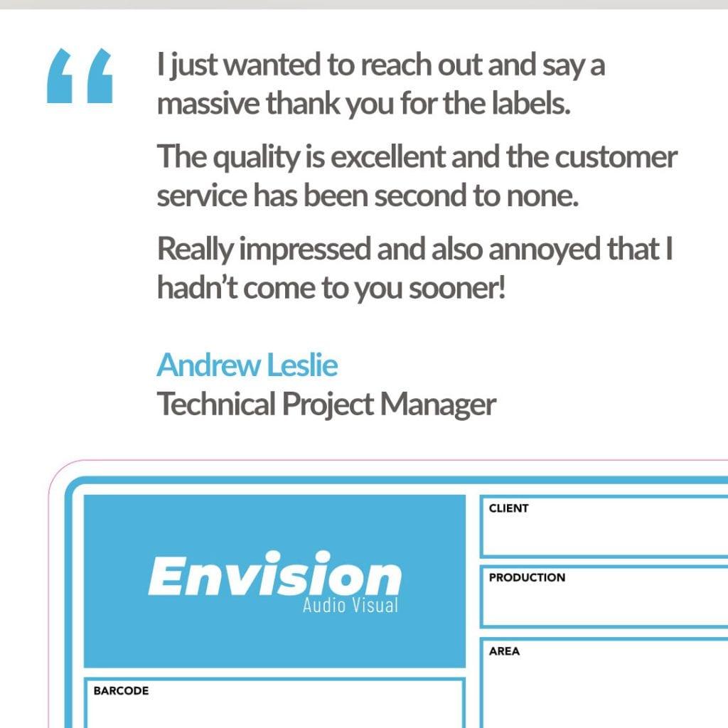 Envision AV testimonial